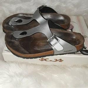 Large Papillo By Birkenstock Silver Sandal